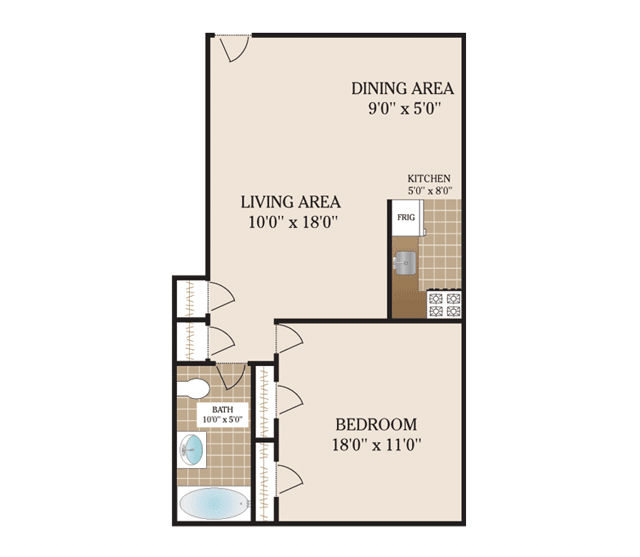 Floor Plans 69th Street Apartments For Rent In Guttenberg Nj
